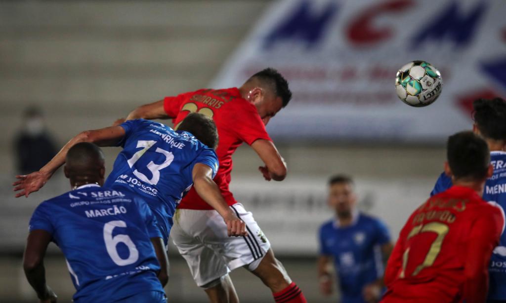 Taça: Paredes-Benfica. O cabeceamento de Samaris para o golo (Lusa)