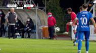 «Túnel» de Tiago Araújo no final do Paredes-Benfica
