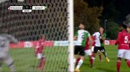 Gonçalo Inácio a centímetros da estreia a marcar pelo Sporting