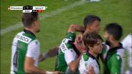 A estreia de Gonçalo Inácio a marcar pelo Sporting no último lance do jogo