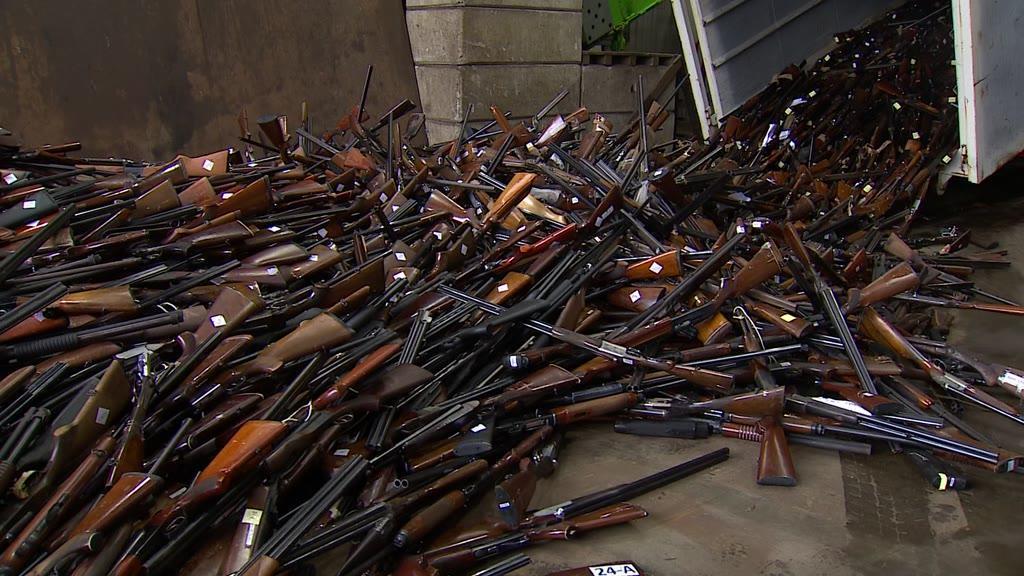 PSP destruiu 13.500 armas apreendidas