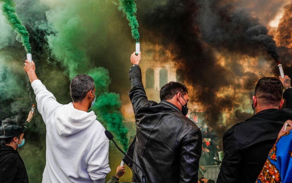 Empresários da restauração, comércio e hotelaria protestam em Lisboa