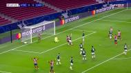 O golo anulado a Koke no At. Madrid-Lokomotiv