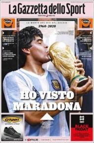 A homenagem da imprensa de todo o mundo a Maradona