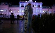 Homenagens a Maradona em frente ao Palácio presidencial ((AP Photo/Victor Caivano)
