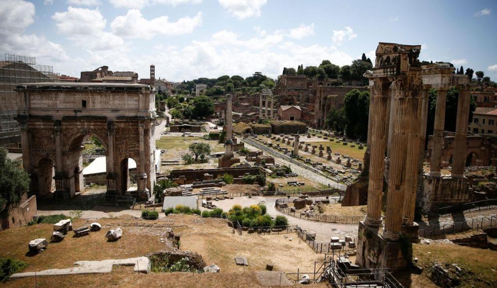 Ruínas do Fórum romano em Roma