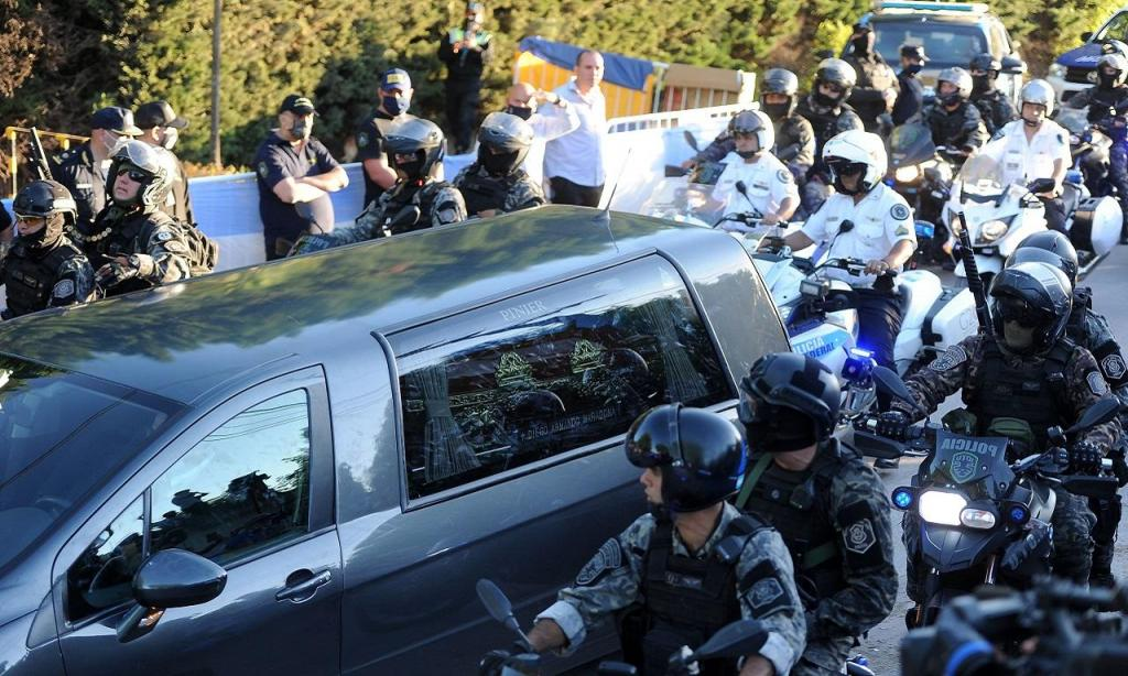 Funeral de Diego Maradona (EPA/ENRIQUE GARCIA MEDINA)
