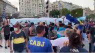 Um milhão de pessoas cantou por Maradona na Casa Rosada