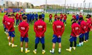 Minuto de silêncio do Barcelona em homenagem a Maradona