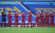Brighton-Liverpool: a homenagem a Diego Maradona (Neil Hall/EPA)
