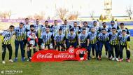 O FC Pakhtakor do Uzbequistão vestiu uma camisola de homenagem a Maradona, no jogo em que se sagrou campeão (foto Facebook)