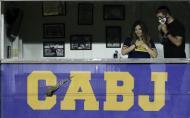 Dalma Maradona durante o Boca Juniors-Newell's Old Boys (AP)