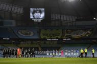 Homenagem a Maradona no Manchester City-Fulham (foto AP)