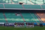 Homenagem a Maradona no Milan-Fiorentina (foto AP)