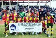 Lalenok United, de Dili, Timor-Leste, prestou homenagem a Maradona (foto Twitter)