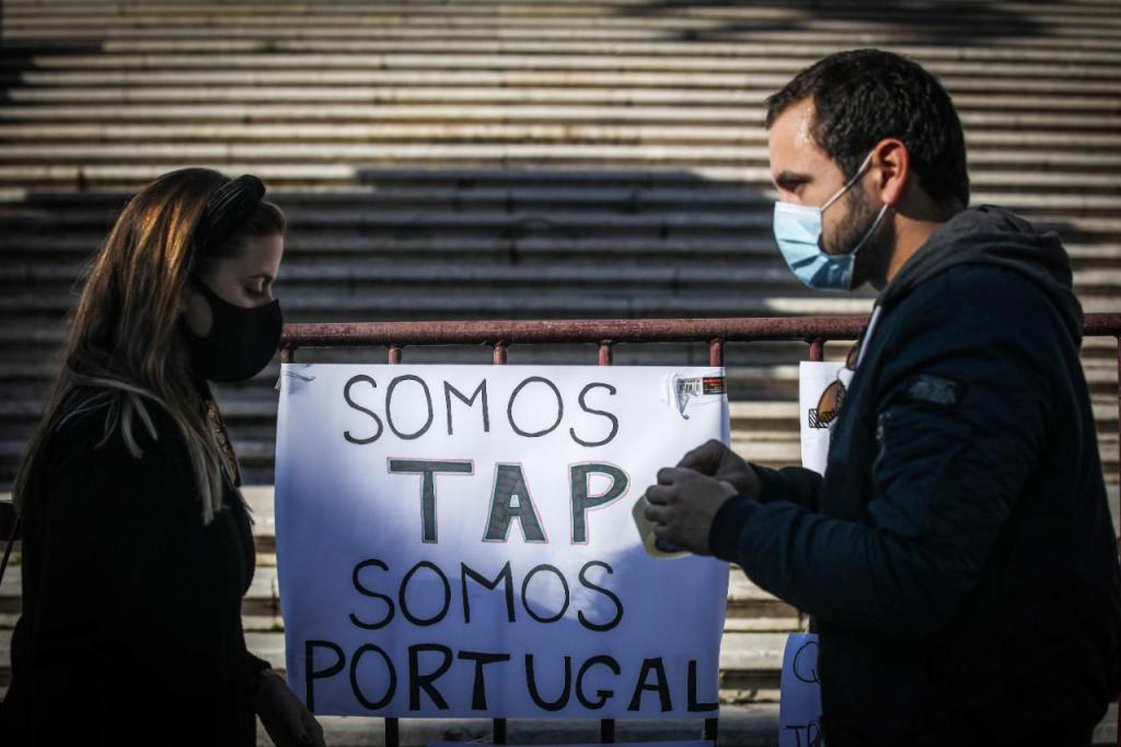 Protesto de trabalhadores da TAP