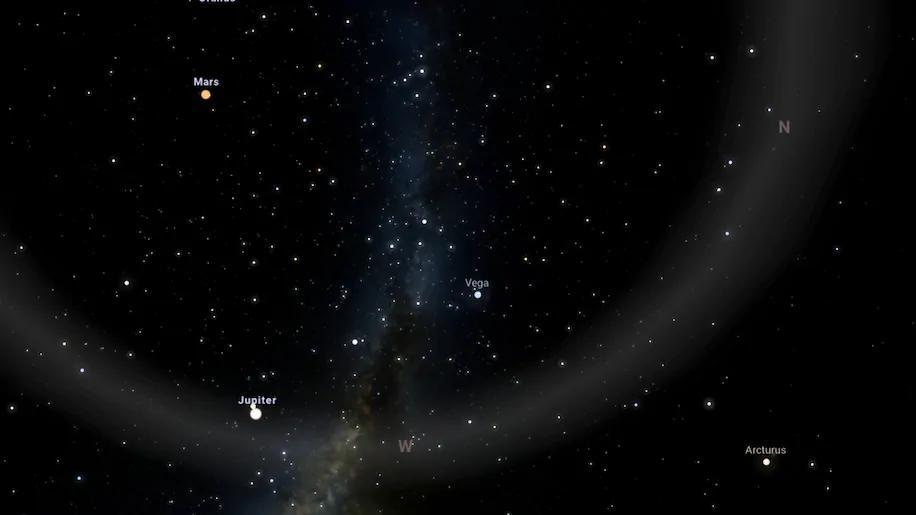 Júpiter e Saturno conjugação astronómica