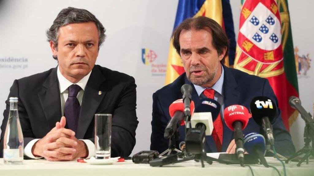 Pedro Calado e Miguel Albuquerque