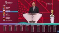 Portugal ficou no Grupo A do apuramento para o Mundial e Fernando Santos reagiu