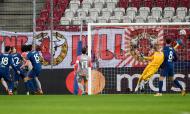 Salzburgo-Atlético Madrid: o golo de Mario Hermoso (Andreas Schaad/AP)