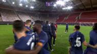 Ambiente ainda aqueceu no final do Olympiakos-FC Porto