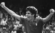 Paolo Rossi no Mundial 1982, após um dos golos à Polónia, na meia-final (AP)