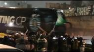 Multidão de adeptos recebeu o Sporting em Alvalade