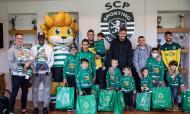 Jogadores do Sporting e as famílias festejaram o Natal na Academia