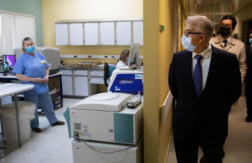 Secretário de Estado da Saúde no Hospital de Santo André