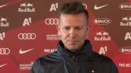 Jesse Marsch, treinador do Salzburgo, chora ao lembrar Gerard Houllier