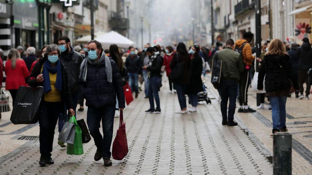 Compras de Natal na baixa do Porto