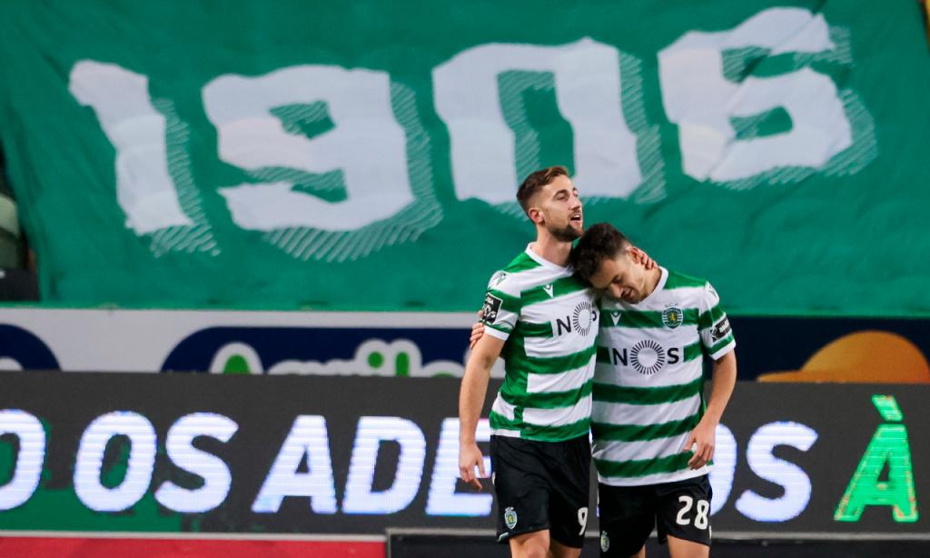 Sporting-Farense: festejos do golo de Sporar (José Sena Goulão/LUSA)