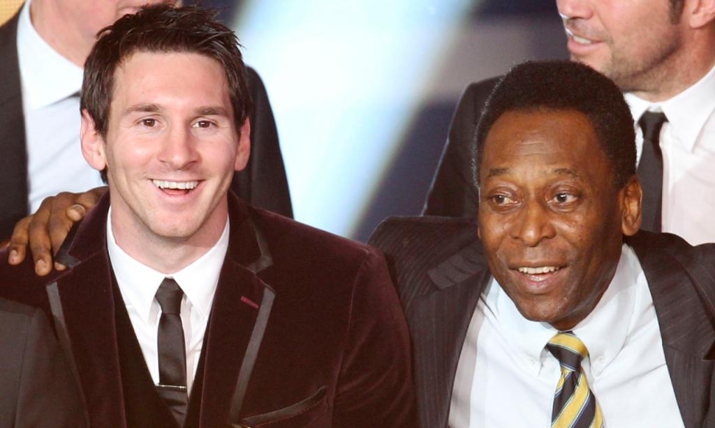 Messi e Pelé (Michael Probst/AP)