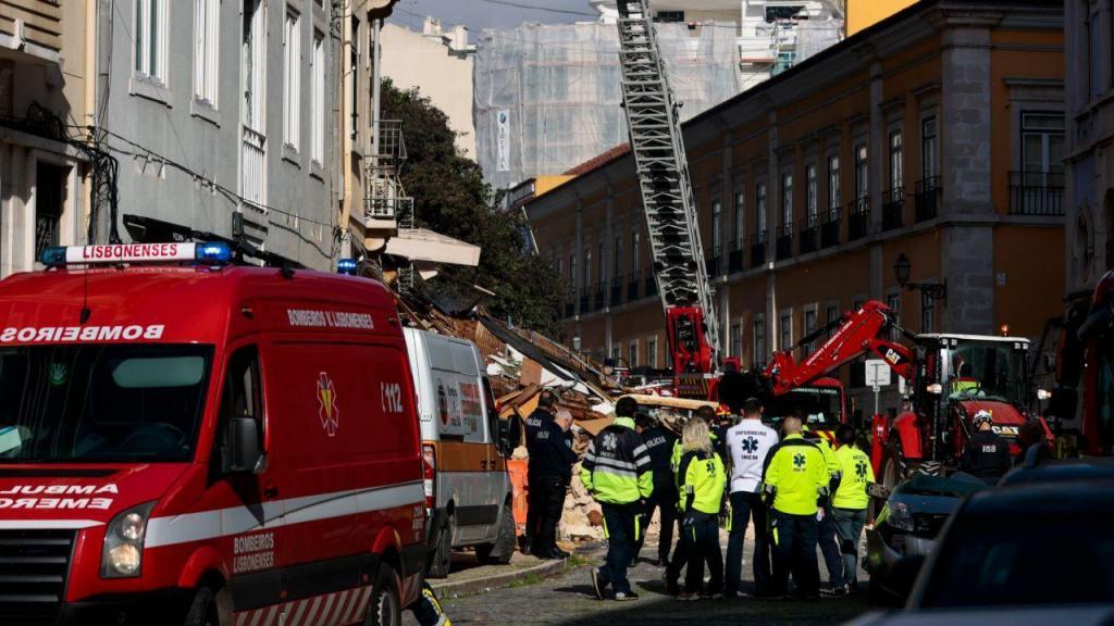 Derrocada de prédio em Lisboa
