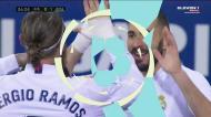 Grande assistência de Rodrygo e Benzema dá vantagem ao Real Madrid