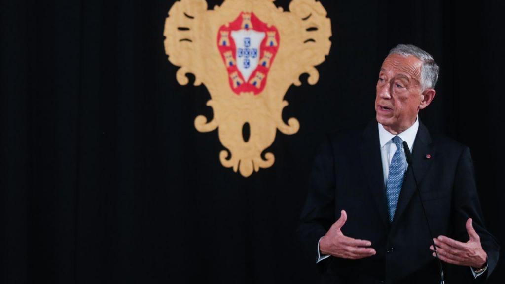 Marcelo Rebelo de Sousa recebe cumprimentos da Assembleia da República