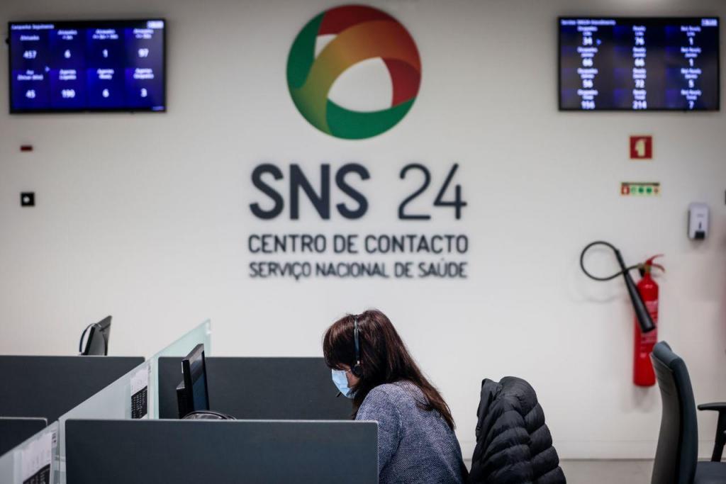 Centro de atendimento da Linha SNS 24 em Lisboa