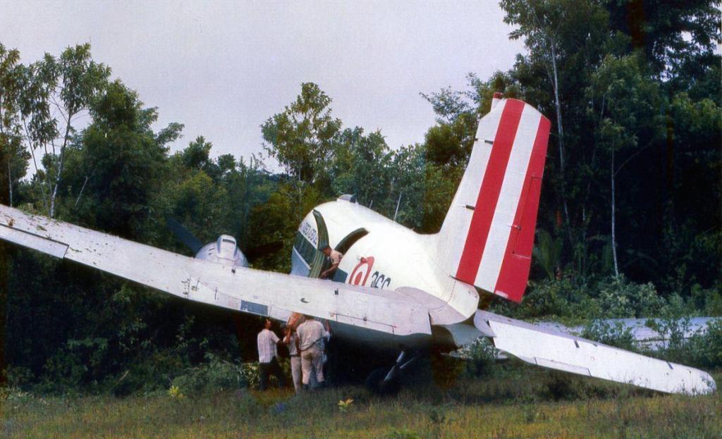 Desatre de avião no meio da selva