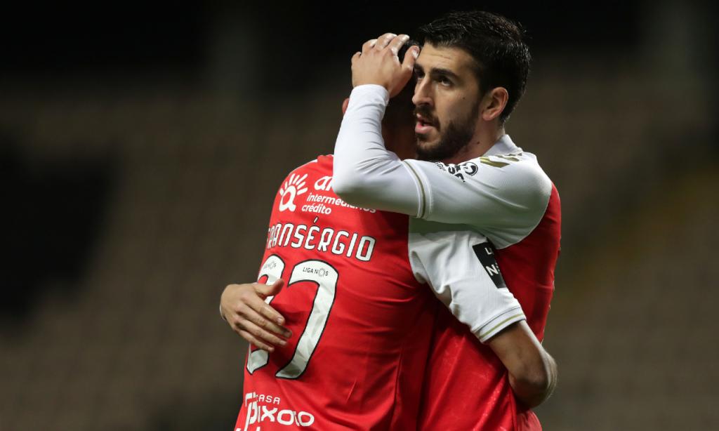 Boavista-Sp. Braga: Paulinho festeja o 0-1 no marcador (Estela Silva/LUSA)