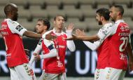Boavista-Sp. Braga: Iuri Medeiros, Fransérgio, Ricardo Horta, Paulinho e Musrati festejam um golo (Estela Silva/LUSA)