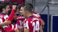 Suárez dá vantagem ao Atlético após cruzamento de Carrasco