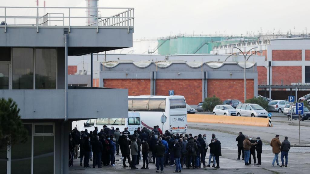 Trabalhadores da refinaria de Matosinhos