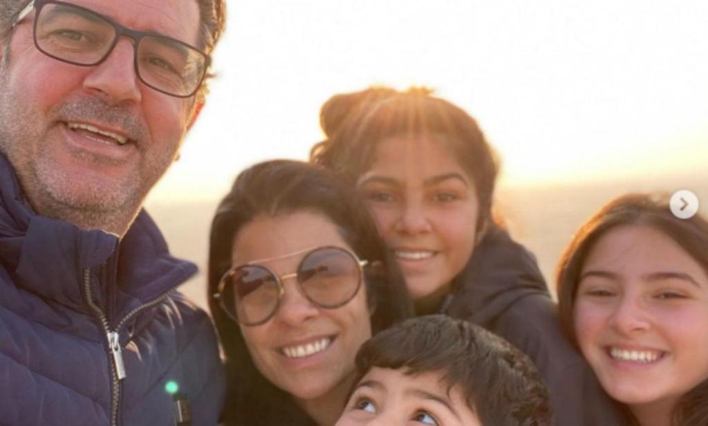 Rui Vitória com a família na Arábia Saudita