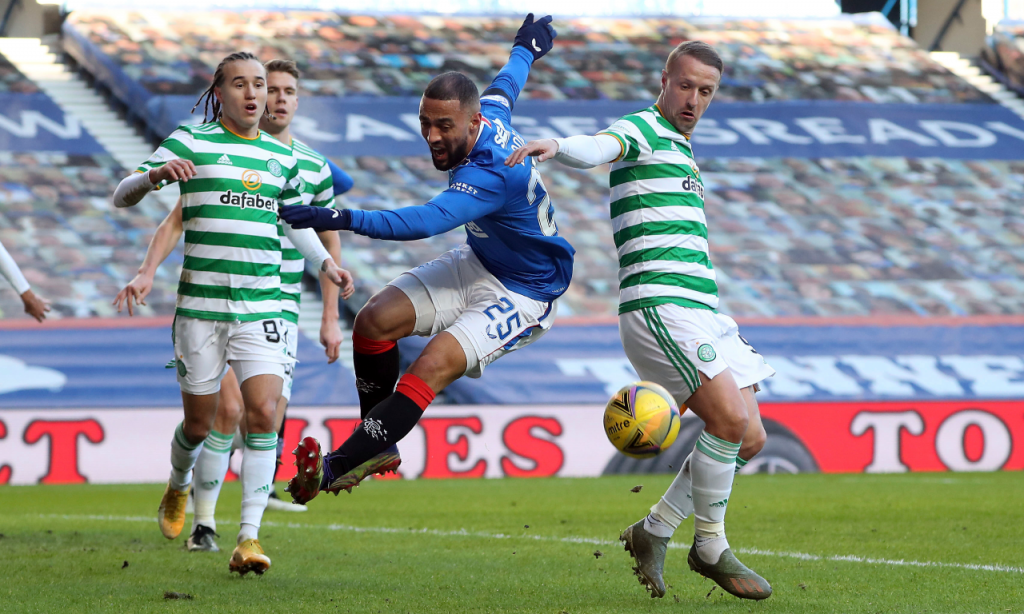 Rangers-Celtic: Kemar Roofe e Leigh Griffiths (Andrew Milligan/AP)