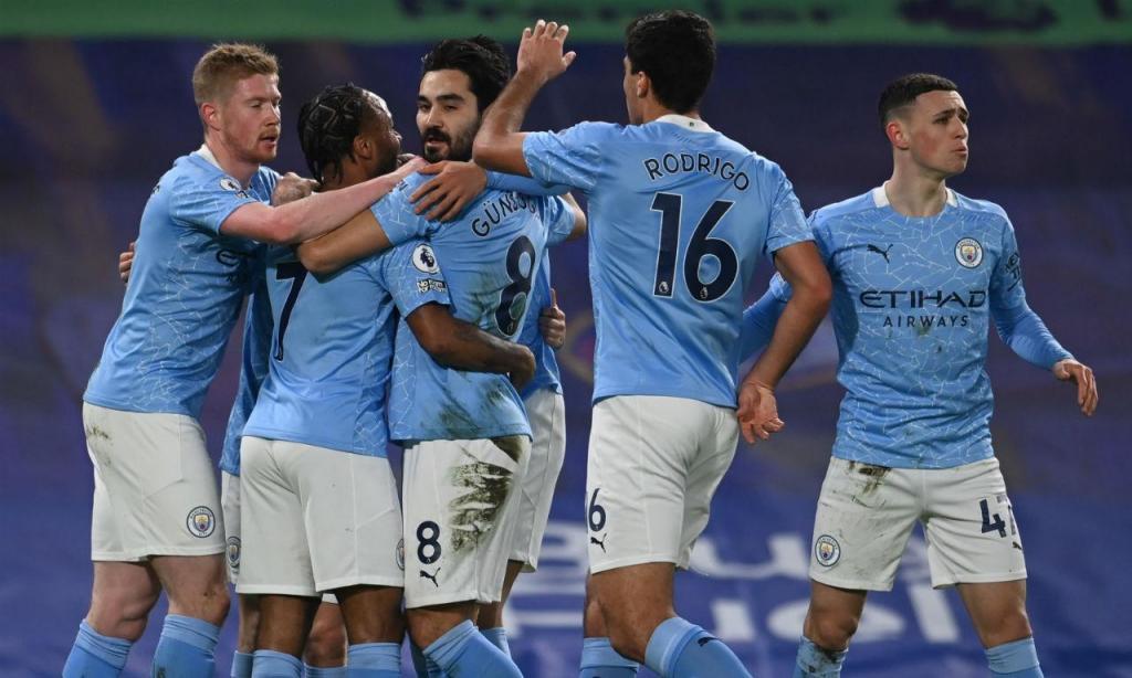 Manchester City venceu em Stamford Bridge (EPA/Andy Rain)