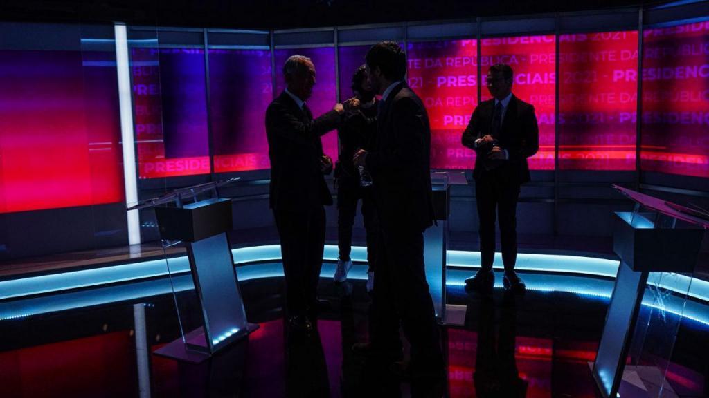As imagens do debate presidencial entre João Ferreira e Marcelo Rebelo de Sousa