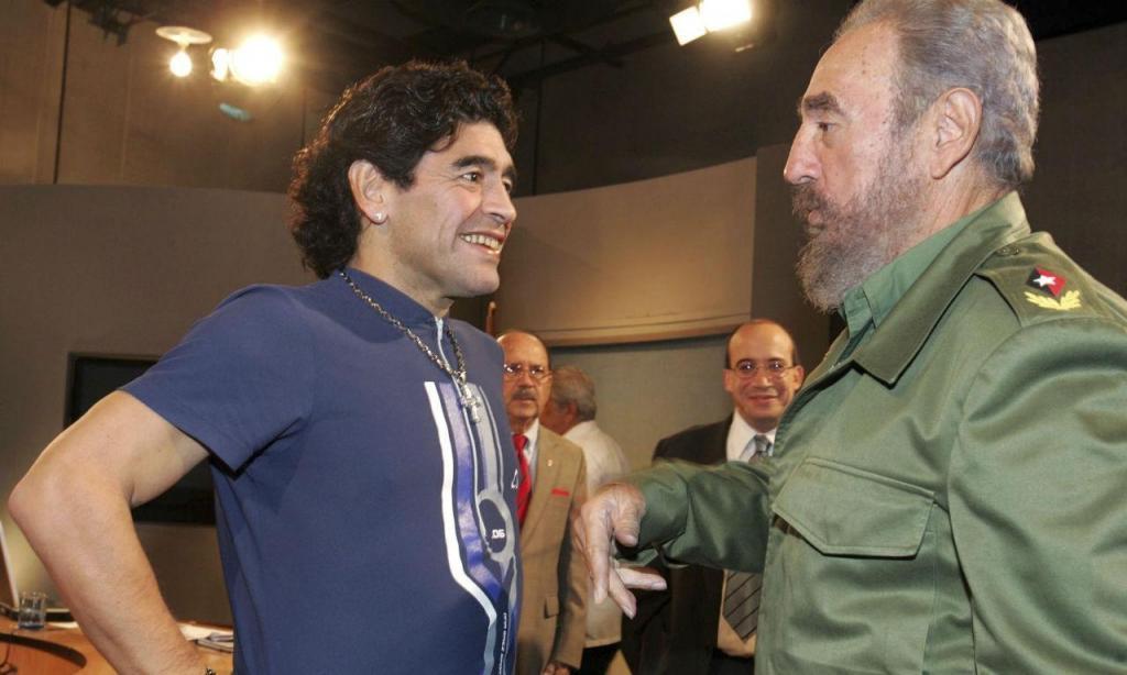 Maradona e Fidel Castro