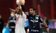 Abel Ferreira no River Plate-Palmeiras (Juan Roncoroni/AP)