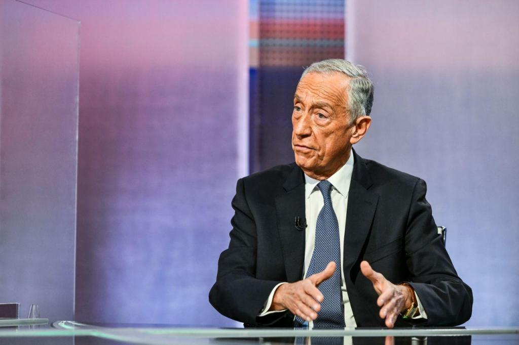 Debate presidencial entre Marcelo Rebelo de Sousa e Vitorino Silva