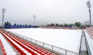 Neve na cidade desportiva do Atlético de Madrid